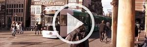 Straßenbahn in Innenstadt