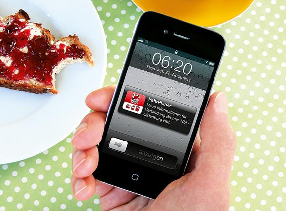 Handy mit der VBN App